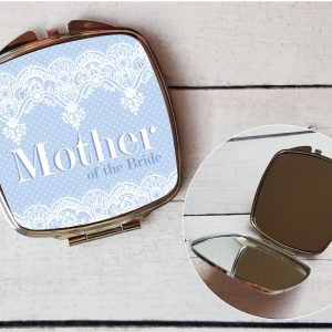 mother of the bride compact mirror by Beautifully Obscene