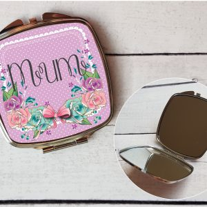 personalised pocket mirror mum, perfect for mothers day