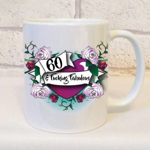 60th funny ceramic mug by Beautifully Obscene