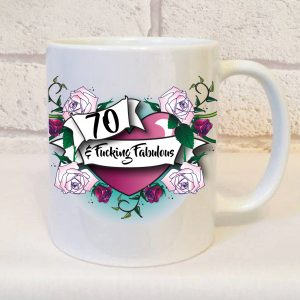 70th funny ceramic mug By Beautifully Obscene