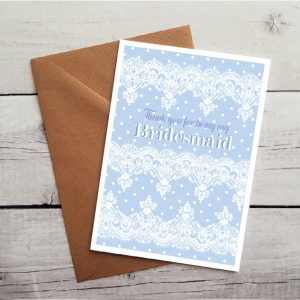 thank you bridesmaid card by Beautifully Obscene