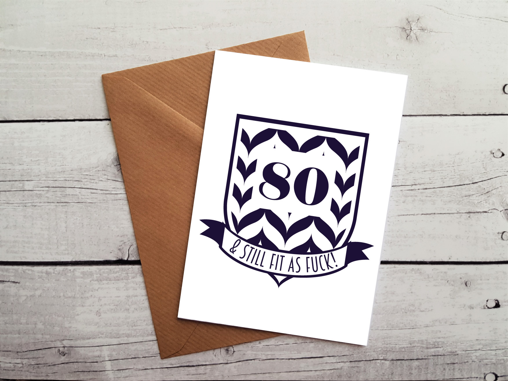 Hilarious 80th Birthday Card By Beautifully Obscene