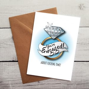 swearing engagement card by Beautifully Obscene