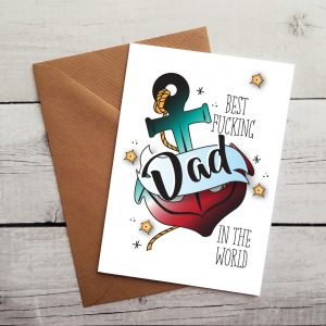 best fucking dad card By Beautifully Obscene