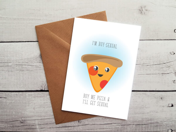 pizza lovers occasion card by Beautifully Obscene