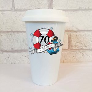 70 travel mug by Beautifully Obscene