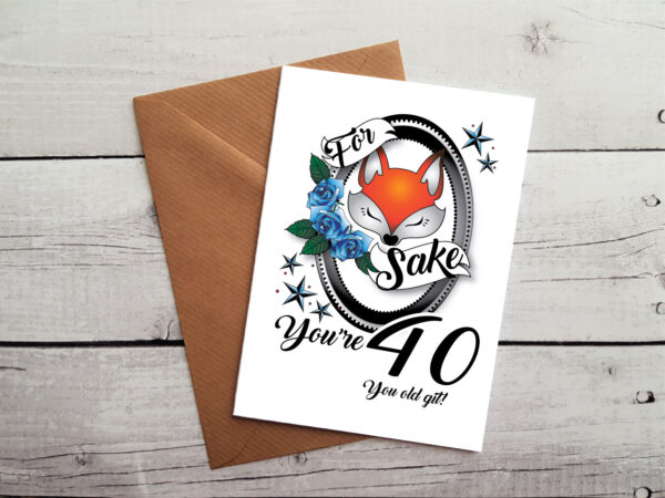 40th greetings card by Beautifully Obscene