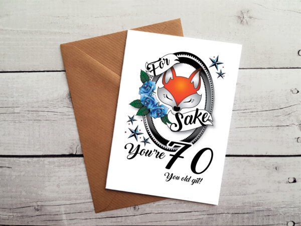 70th greetings card by Beautifully Obscene