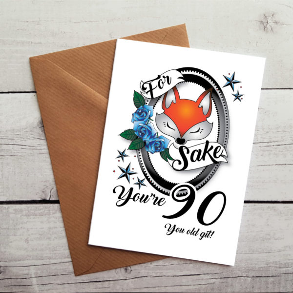 90th greetings card by Beautifully Obscene