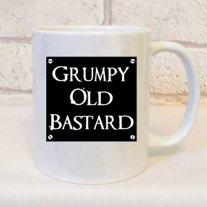 grumpy old bastard mug by Beautifully Obscene