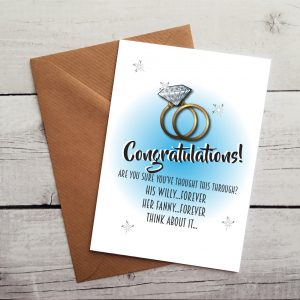hilarious engagement card by Beautifully Obscene
