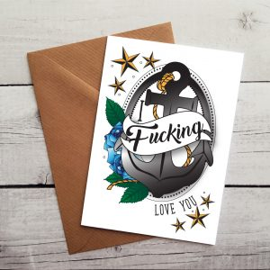swearing occasion card by Beautifully Obscene