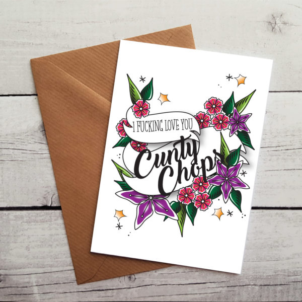 cunty chops anniversary card by Beautifully Obscene