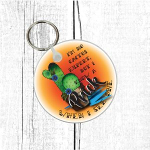 funny cactus keyring by Beautifully Obscene