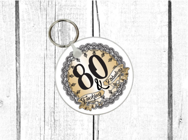 funny 80th gift by Beautifully Obscene