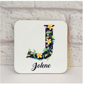 personalised letter coaster by Beautifully Obscene
