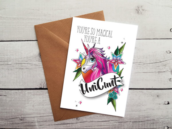 unicunt occasion card by Beautifully Obscene