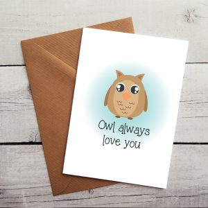 owl lovers occasion card by Beautifully Obscene