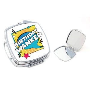 birthday wanker compact mirror by Beautifully Obscene