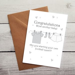fun new baby card by Beautifully Obscene