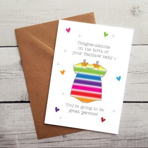 rainbow baby card by Beautifully Obscene