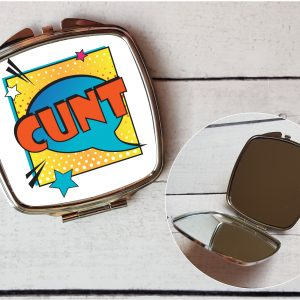 cunt compact mirror by Beautifully Obscene