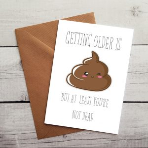 funny emoji birthday card by Beautifully Obscene