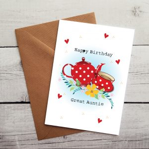 happy birthday great auntie occasion card by Beautifully Obscene