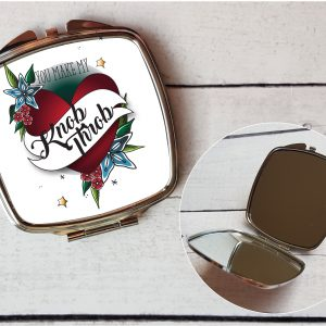 funny women's compact mirror gift by Beautifully Obscene