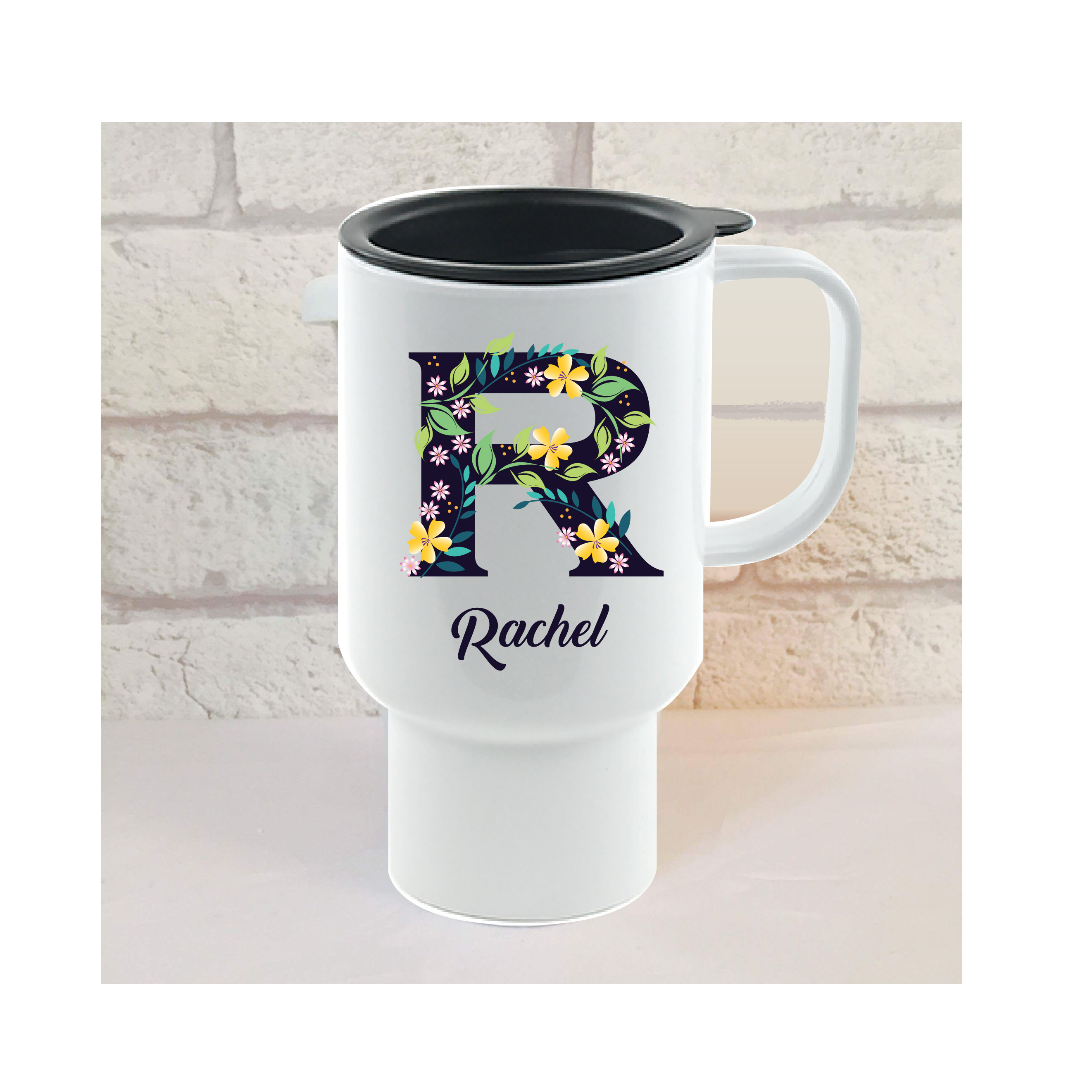 initial travel mug gift initial r all initials names