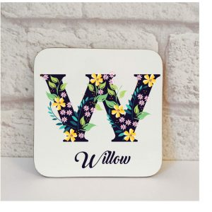 personalised friend coaster gift by Beautifully Obscene