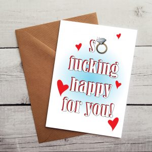 curse engagement card by Beautifully Obscene