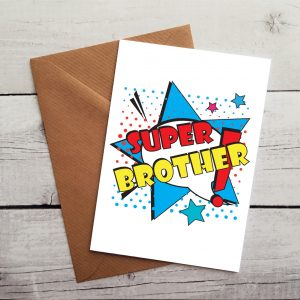 super brother occasion card by Beautifully Obscene