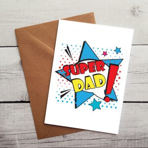 super dad occasion card by Beautifully Obscene