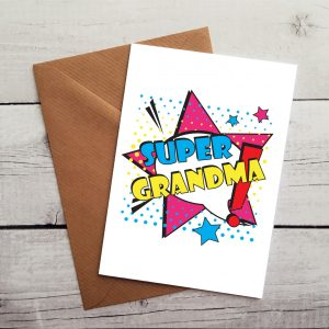 super grandma occasion card by Beautifully Obscene