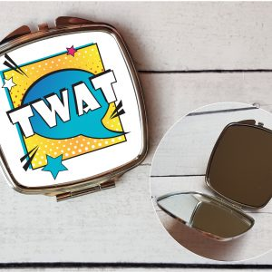 twat compact mirror by Beautifully Obscene