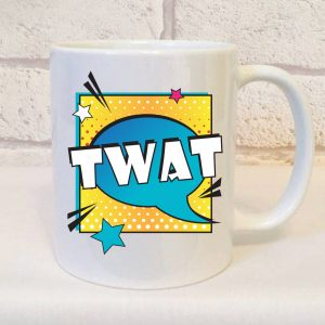 twat ceramic mug by Beautifully Obscene