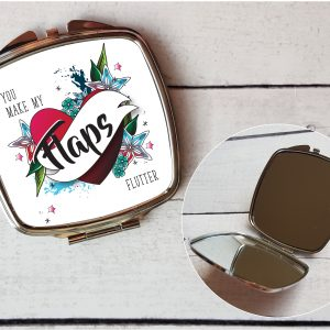 funny compact mirror gift by Beautifully Obscene