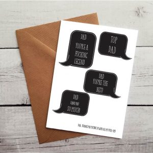 swearing fathers day card by Beautifully Obscene