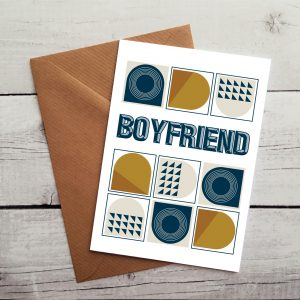 boyfriend greetings cards by Beautifully Obscene