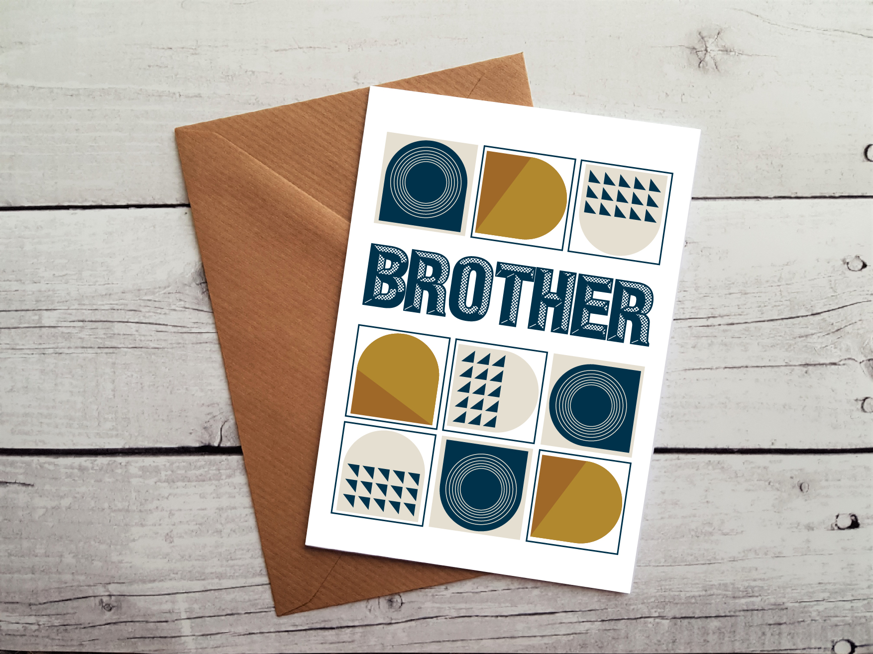 Brother Greetings Cards Beautiful Handmade Birthday Card For