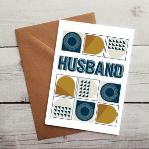 husband greetings cards by Beautifully Obscene