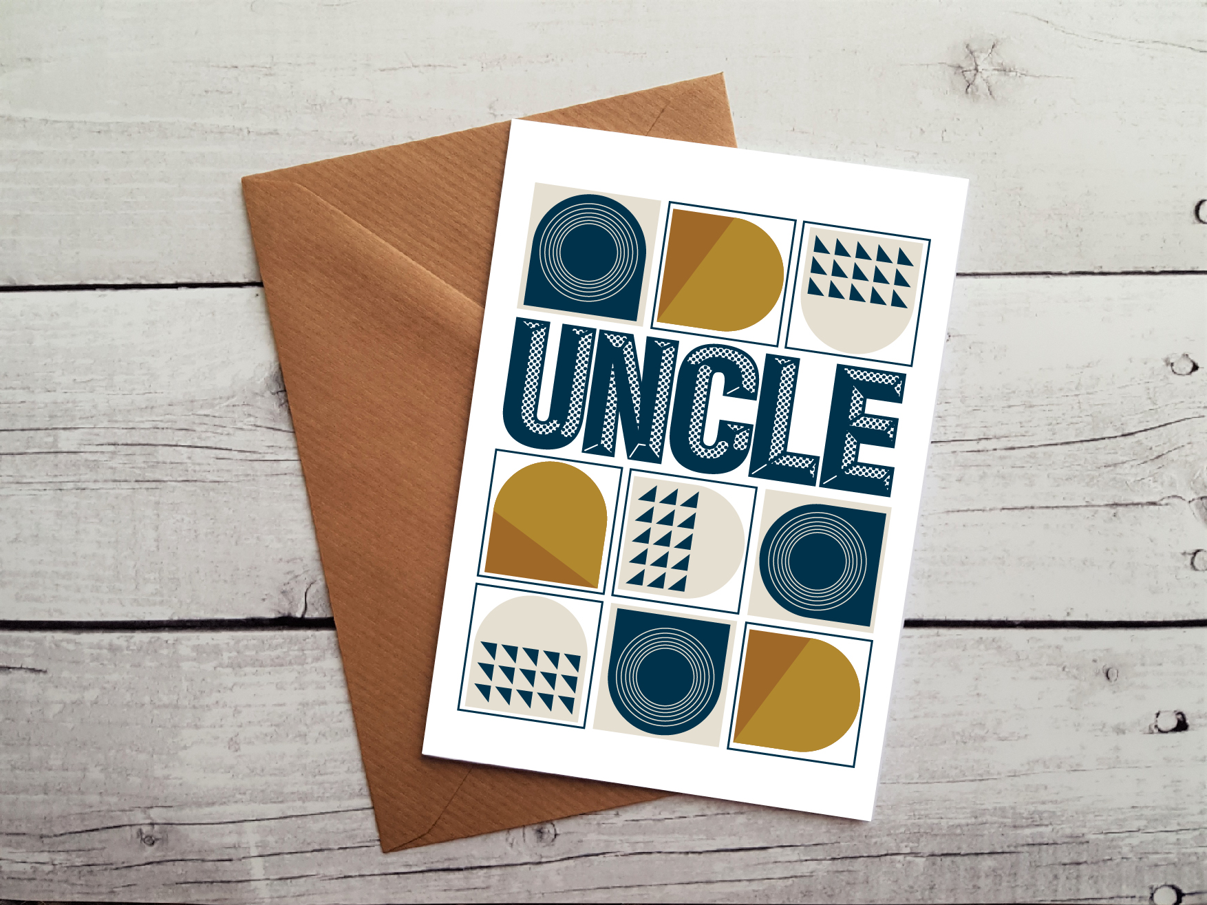 Uncle Greetings Card By Beautifully Obscene