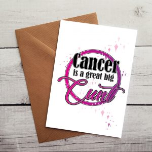 fun cancer support card by Beautifully obscene