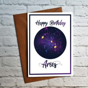 Aries birthday card by Beautifully Obscene