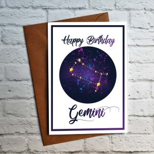 gemini birthday card by Beautifully Obscene
