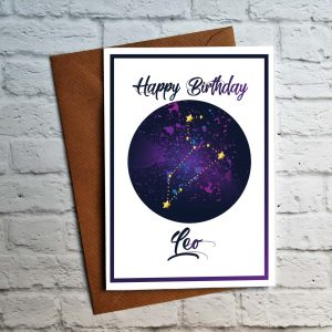 leo birthday card by Beautifully Obscene