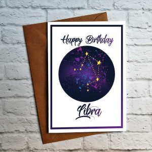 libra birthday card by Beautifully Obscene