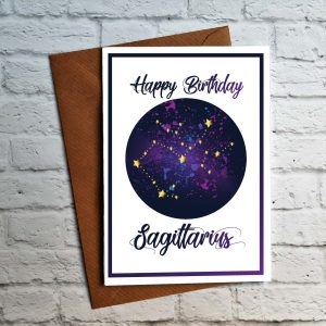 sagittarius birthday card by Beautifully Obscene