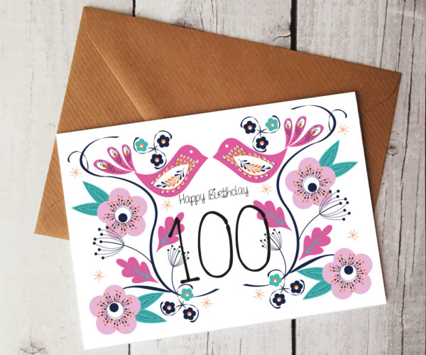 100th birthday card by Beautifully Obscene